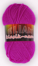 Knitting yarn Klasik Neon 10918 - red