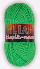 Knitting yarn Klasik Neon 10919 - green