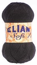 Knitting yarn Sofi 217 - black