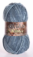 Knitting yarn Tabby 31893 - blue