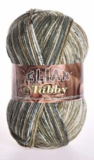 Knitting yarn Tabby 31894 - green