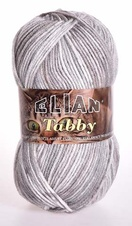 Knitting yarn Tabby 31897 - grey