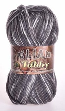 Knitting yarn Tabby 31898 - grey