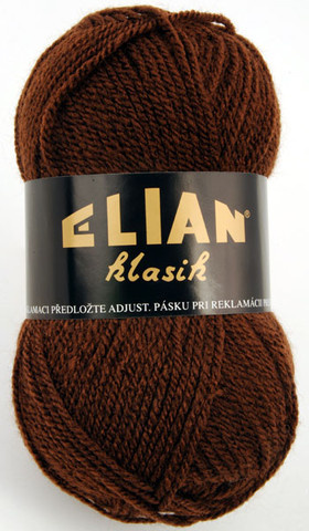Knitting yarn Klasik 367 - brown - Yarn Klasik 367