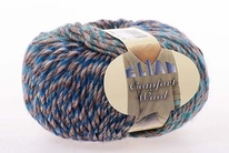 Knitting yarn Comfort Wool 462 - blue