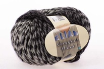 Knitting yarn Comfort Wool 458 - black