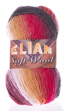 Knitting yarn Soft Wool 040 - red