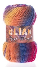 Knitting yarn Soft Wool 808 - orange