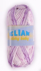Knitting yarn Nicky Baby 124 - purple