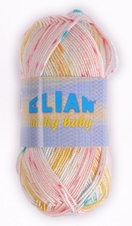 Knitting yarn Nicky Baby 125 - yellow