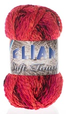 Knitting yarn Soft Touch 7256 - red