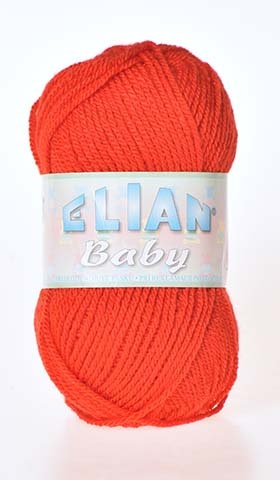 Knitting yarn Baby 207 - red - Yarn Baby 207