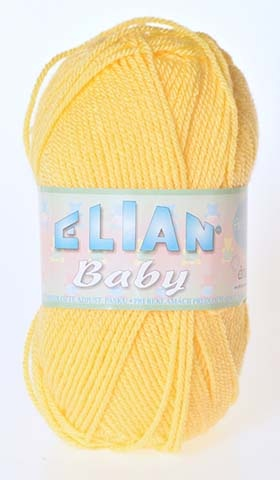 Knitting yarn Baby 2857 - yellow - Yarn Baby 2857