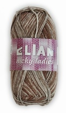 Knitting yarn Nicky Ladies 446 - brown