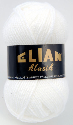 Knitting yarn Klasik 208 - white - Yarn Klasik 208
