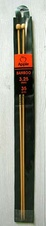 Bamboo straight knitting needles - 3,25 mm