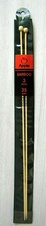 Bamboo straight knitting needles - 3 mm