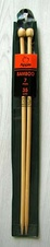 Bamboo straight knitting needles - 7 mm