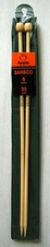 Bamboo straight knitting needles - 6 mm