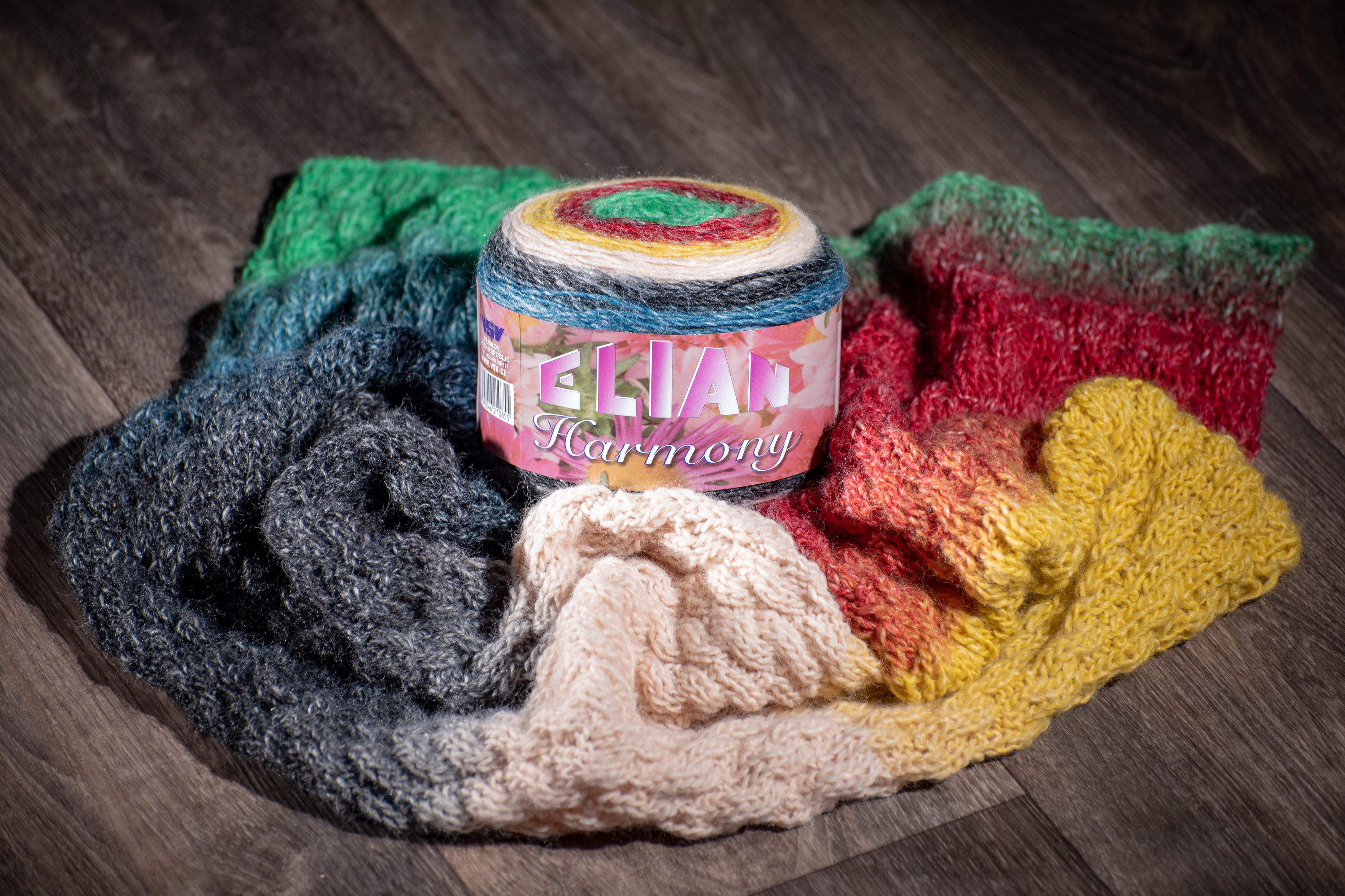 Knitting and crochet from Harmony Elian yarn